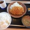 かつや - 料理写真:朝ロースカツ定食、ご飯大盛¥450+100