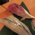 綾元 - ライトなシメにシースー。 サバとサヨリ。