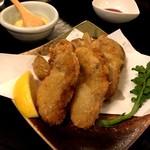 58450394 - 牡蠣料理「オイスターフライとチップス」(2016.Nov)