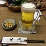 58450483 - 生ビールとお通しの酢大豆