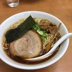 58451284 - 鶏ガラ+魚介のダブルスープ 中華そば大盛 750円