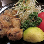 月のうさぎ - 砂肝のフライ。                             きちんと下処理してあり、柔らかく程良い食感。