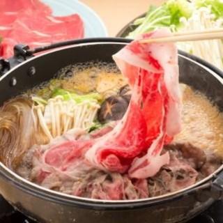 ■しゃぶしゃぶ(すき焼き)食べ放題+飲み放題付きコース