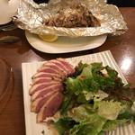 ビストロ カメレオン - 舞茸のホイル焼きとマグレ鴨のサラダ