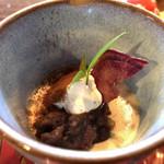 有機茶屋 あじゃり - ★★★☆ 豆乳のパンナコッタと小豆あん