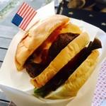 カフェ 彩の森 - ハンバーガーはペーパーに包んで!