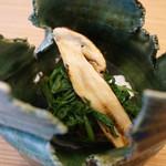 柚木元 - 春菊と焼き松茸