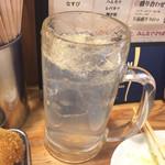 串カツ田中 - 生レモンサワー 390円