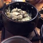梨門邸 - 牡蠣の土鍋ご飯
