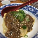 58474332 -                        揚げ豆腐の鯖味噌がけ(500円)◎