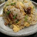 58474876 - セットの焼き飯。玉子の固まり具合とチャーシューの配合が絶妙な焼き飯。