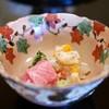 Kitcho Arashiyama - 料理写真:造里 伊勢海老(長崎)と鮪(龍飛岬)