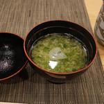 寿司竹 - 海苔の味噌汁