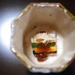 京都 吉兆 - 先付 京野菜と柿