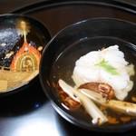 58475939 - お椀 カサゴと松茸