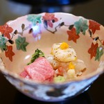 京都 吉兆 - 料理写真:造里 伊勢海老(長崎)と鮪(龍飛岬)