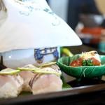 京都 吉兆 - 八寸 カマスの棒寿司