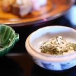 京都 吉兆 - 八寸 トンブリと蒸し鶏