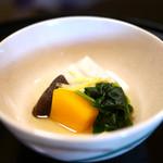 京都 吉兆 - 炊合 南瓜、椎茸、芋