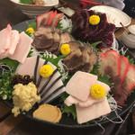 Taruichi - くじら刺身5種盛り