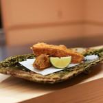 麻布十番 ふくだ - 松茸の揚げ物