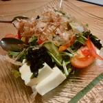 個室居酒屋ぼんた - 「豆腐と水菜のサラダ」