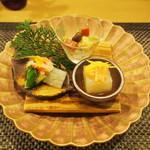 田菜花 - 小松菜の白和え、酢のもの、大根豆腐