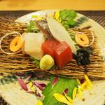 田菜花 - お造り(さごしのたたき・マグロ・ヒラメ)