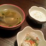 58482142 - ランチセットのスープ&生春巻&プチデザート