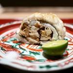 高台寺 和久傳 - 鱧と松茸の炭火焼