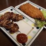 立ち飲み日高 - 特製スタミナ焼き(ハラミ)&イワシフライ♪とても美味しゅうございました♡