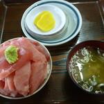 鶴亀屋食堂 - 極上メバチマグロ丼の小 2500円