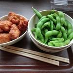 摩耶ビューテラス702 - 鶏の唐揚げ&枝豆