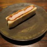 東京チャイニーズ 一凛 - 黒酢のカツサンド、荏胡麻と粒マスタードで1
