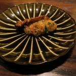 東京チャイニーズ 一凛 - 三陸産の牡蠣の炒め物、葉ニンニクと1