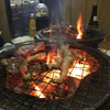 Tatsumihorumon - 料理写真:煙モクモク