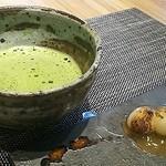和がし圓左 - 醤油がこうばしく上品な甘さのみたらし団子と抹茶