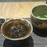 和がし圓左 - 本物の作り立てわらび餅、きな粉と黒蜜