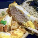そば処 千寿 - ヒレカツ丼は小サイズ