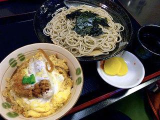 そば処 千寿 - ひれかつ丼セット900円