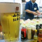 Micchansouhonten - 午前中から呑む生ビール、美味いっす!