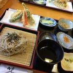 みらんど袋田 農家レストラン - 料理写真:天ざる(1,230円)★★★☆☆