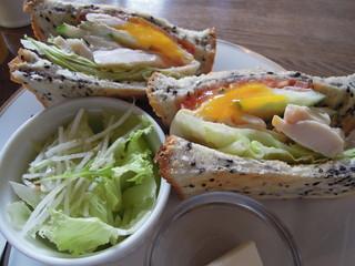 喫茶 ほんまち - この日のサンドイッチ