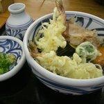 ふる里 - 天ぷらそばぶっかけ