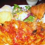サブローソ - ナスとベーコンのパスタ トマトソース