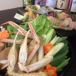 かに鍋、海鮮鍋、すっぽん鍋など寒い時期には鍋料理!!