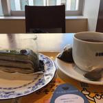 58507047 - 今日は抹茶と小豆のミルフィーユにしてみました