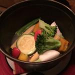58510561 - 有機野菜の温野菜、白トリュフオイル風味