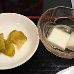 好味苑 - 好味苑 @本蓮沼 ライスセットの搾菜と杏仁豆腐