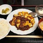 好味苑 - 好味苑 @本蓮沼 マボー豆腐 300円 + ライスセット 200円(共に税込)